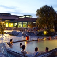 ... at the Rotorua Bath House which is now home to the world-class Museum.