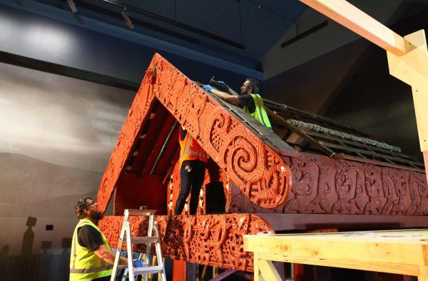 Te Oha, 2018. De-installation from Rotorua Museum Te Whare Taonga o Te Arawa. Image