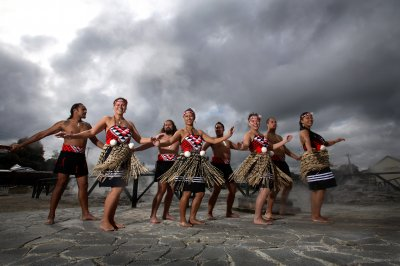Performers at Whakarewarewa Living Maori Village