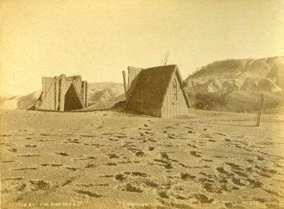 Tuttle & Co. Ruins of Te Mu church, Te Wairoa after the 10 June 1886 Tarawera eruption. OP-2972. Collection of Rotorua Museum Te Whare Taonga o Te Arawa